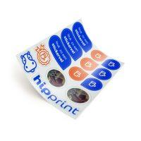 hipprint Stickers op vel